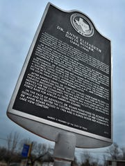 A Texas historical marker stands where Dr. Anne Elizabeth