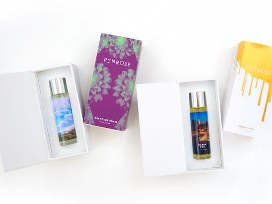 Custom fragrance bottles from Pinrose