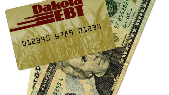 EBT card used for food stamps.