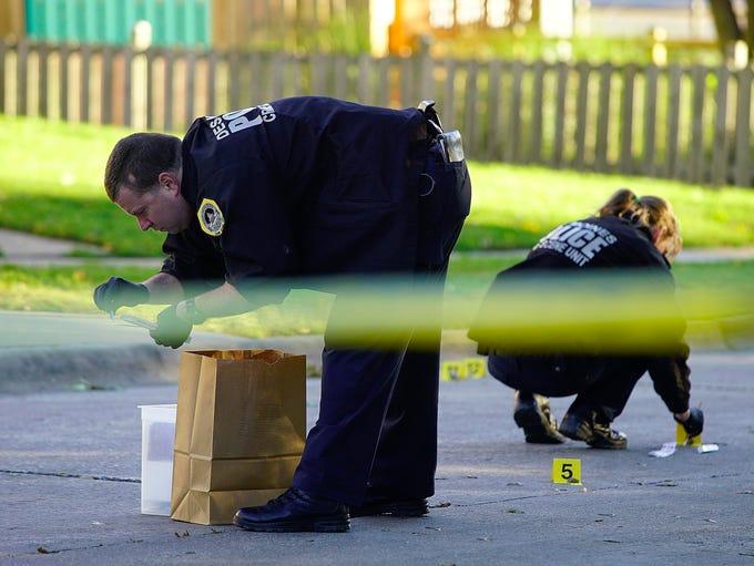 Des Moines police investigate a fatal shooting Thursday,