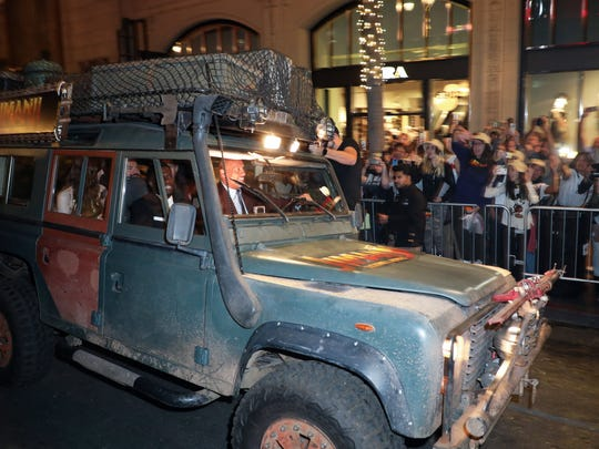 Dwayne Johnson drives a customized safari vehicle with