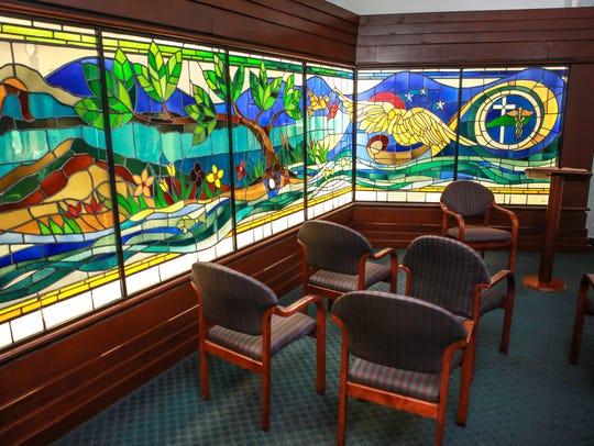 Inside the prayer room May 4, 2015, at Baptist Health