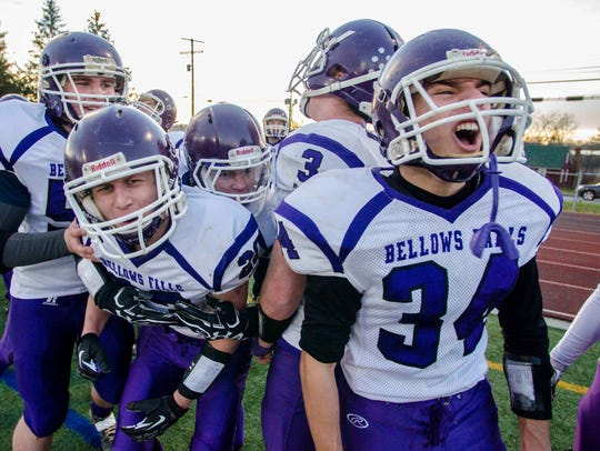 Bellows Falls players celebrate their victory over