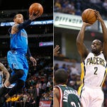 The Pacers signed free agent guard Monta Ellis and re-signed guard Rodney Stuckey.