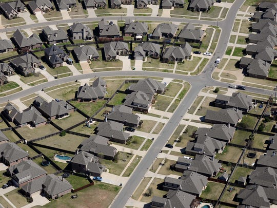 Homes in north Bossier.
