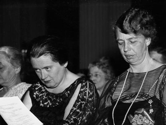 Lorena Hickok and Eleanor Roosevelt Listening to Concert