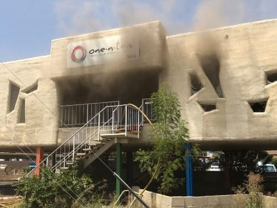 A fire broke out at the former headquarters of one.n.ten,
