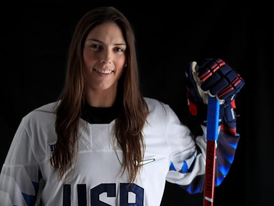 Hilary Knight, who played hockey at Wisconsin, helped