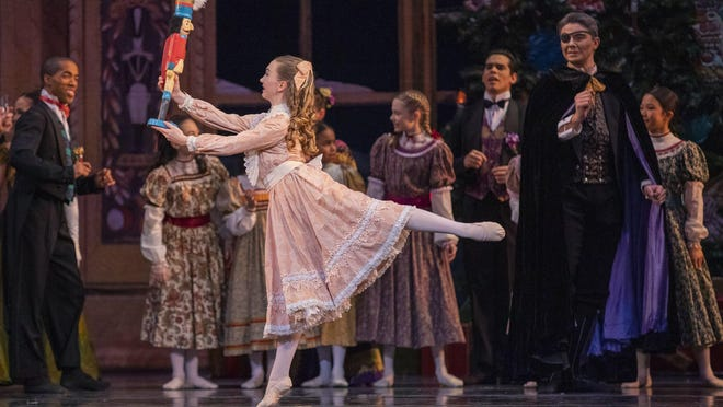 "Dancers from BalletMet perform a dress rehearsal of ""The Nutcracker"" at the Ohio Theatre in 2019."