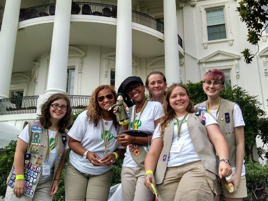 Ambassador Girl Scouts from Virginia Skyline Council