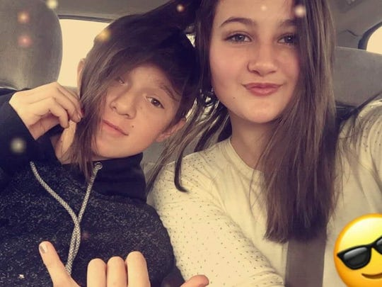 Sandra Orris (right) poses with her friends Nicholas Minard. Nicholas was killed in a car crash in July 2017.