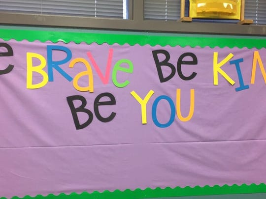 Belaire Elementary classroom sign.