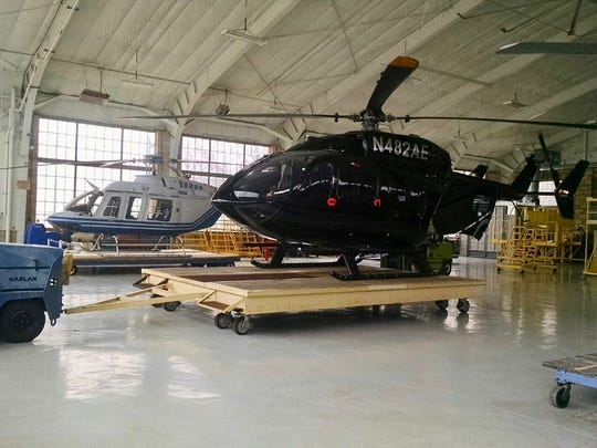 TVA's new helicopter, previously owned by Dallas Cowboys