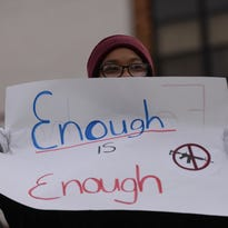 'We're all students trying to stand together': Teens walk out of schools to protest gun violence