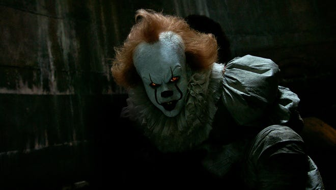 The fall movie season kicks off in frightful fashion with Bill Skarsgård as the evil clown Pennywise in 'It' (Sept. 8).