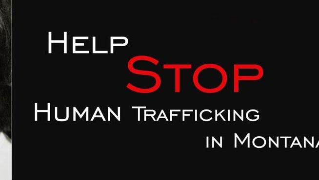 Stop human trafficking banner.