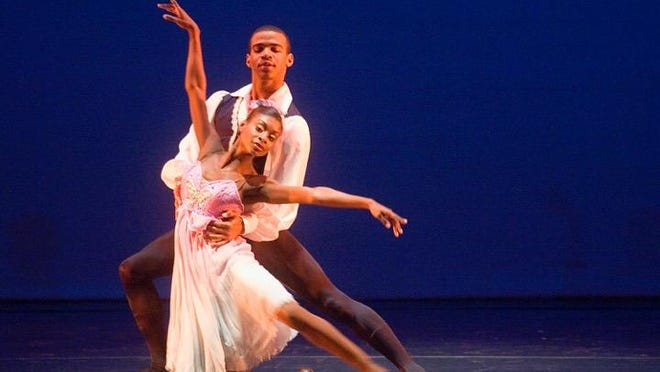 Dancers Ashley Murphy and DeJuan Booker of Dance Theatre of Harlem at The Strand dancing for Louisiana Dance Theatre. Ashley is a Shreveport native, who was the No. 1 principal dancer of the Dance Theatre of Harlem. She recently became a principal dancer for The Washington Ballet.