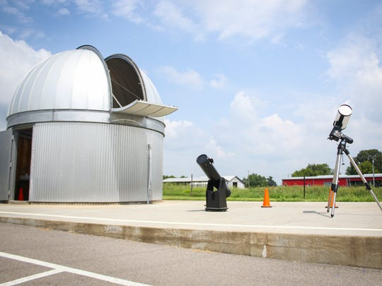 The Austin Peay observatory sits on the land of Austin