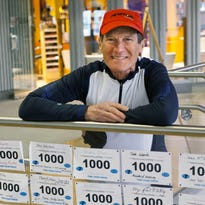 Roy Pirrung hopes to cross his 1,000th finish line at the Boston Marathon. He has run in more than 136 marathons and 195 ultra-marathons.