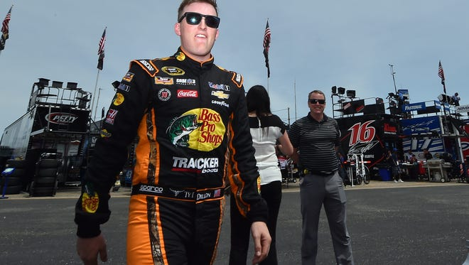Ty Dillon at Talladega Superspeedway on Friday.