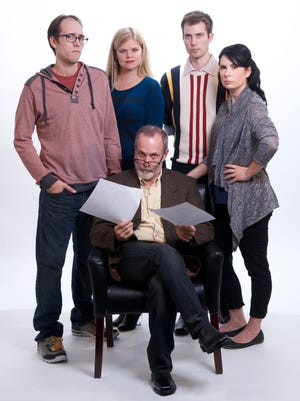 """The cast of """"Seminar,"""" the latest offering from Actors Theatre."""