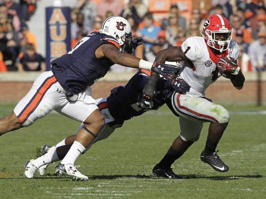 NCAA Football: Georgia at Auburn