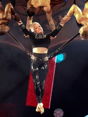 Pink starts out her show at the KFC Yum! Center with