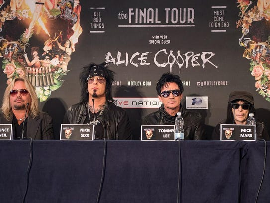 Vince Neil, Nikki Sixx, Tommy Lee and Mick Mars of
