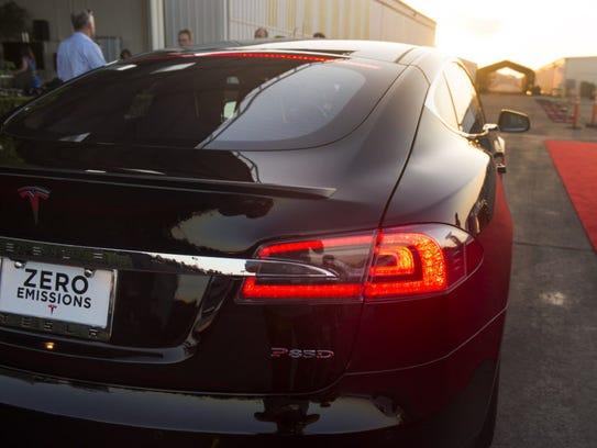 The Tesla P85D.