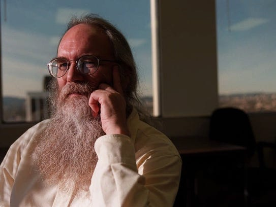 Jon Postel, shown in this undated photo, the Internet