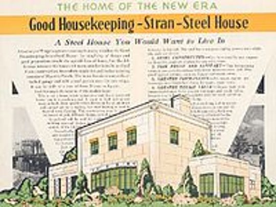 An ad of the Good Housekeeping Stran-Steel House that