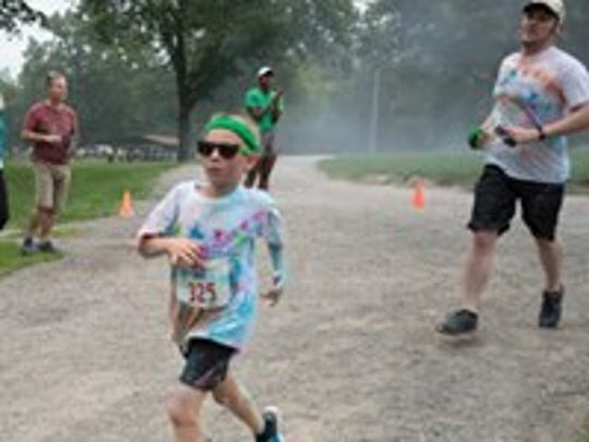 The inaugural 5k Color Run drew more than 500 runners