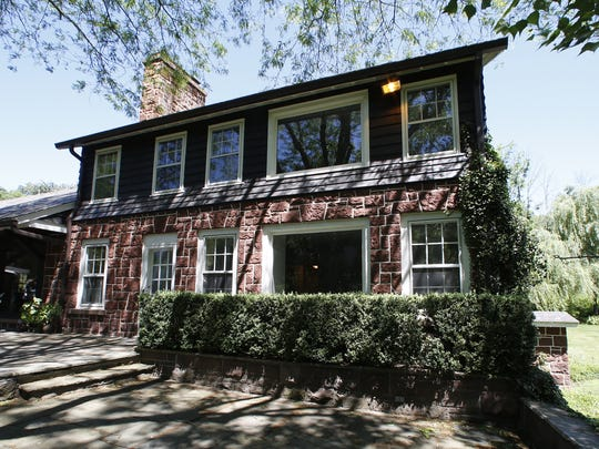 Exterior view of a North New City sandstone home is up for sale at $1.15 million.