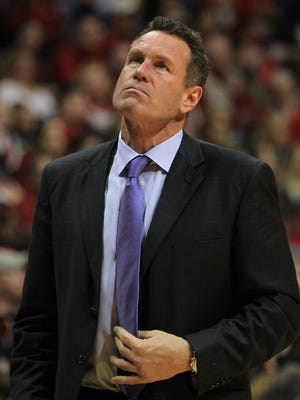Dec 13, 2014; Bloomington, IN, USA;  Grand Canyon Antelopes head coach Dan Majerle during the game against the Indiana Hoosiers at Assembly Hall. Indiana defeated Grand Canyon 94-66.