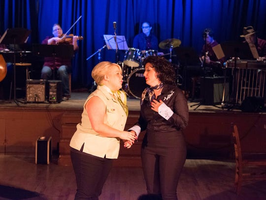 "Carolyn Johnson (left) and Taylor Pawley will reprise their roles in Keizer Homegrown Theatre's popular musical production of ""Always ... Patsy Cline"" reopening Jan. 14 at the Kroc Center. The musical features 27 of Cline's classic songs."