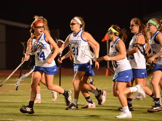 The Cedar Crest girls lacrosse team dropped a 10-9 home game Thursday against Warwick.