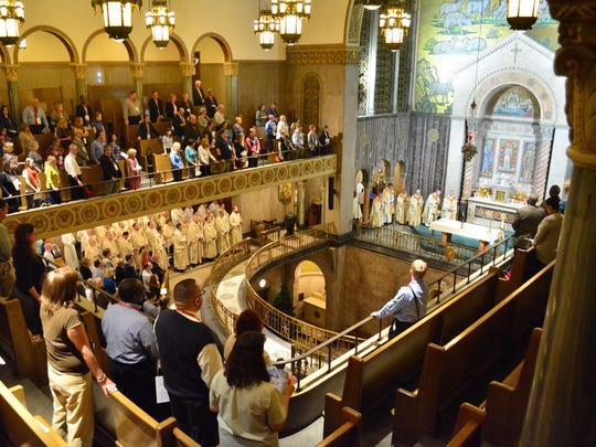 Synod members fill St. Aloysius Church in downtown Detroit during the closing Mass of Synod 16 on Nov. 20.