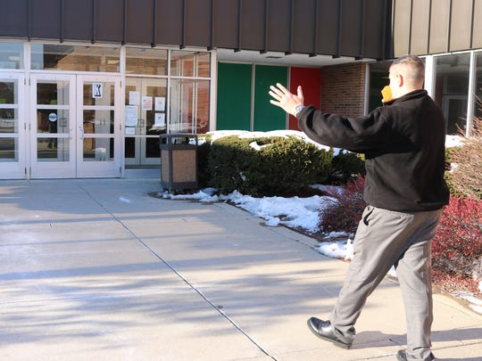Guy Parmigian, superintendent of B-C-S Schools, said building a vestibule and new new office outside of the existing main high school entrance is one of two options to improve security.