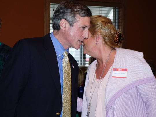 Gov.-elect John Carney meets with members of the Eastern