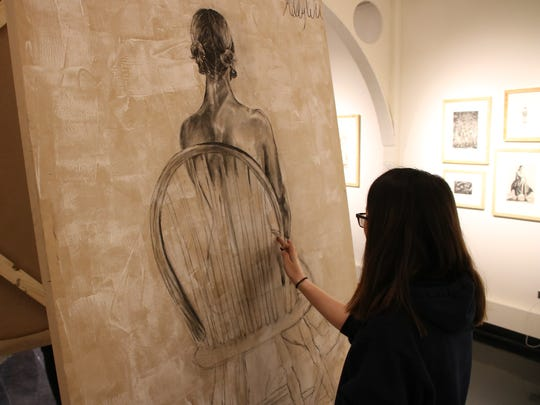Kelly Wu, 18, of Johnson City, took first place in Binghamton Univeristy's Drawing Marathon.