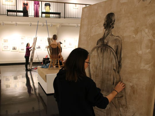 Kelly Wu, of Johnson City, took first place in Binghamton Univeristy's 2017 Drawing Marathon.