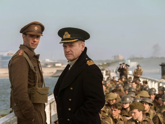 "James D'Arcy, left, and Kenneth Branagh appear in a scene from ""Dunkirk."""