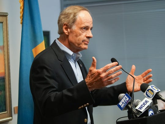 Sen. Tom Carper gives his reaction to last nights vote that occurred in the Senate defeating the proposal to dismantle Affordable Care Act.