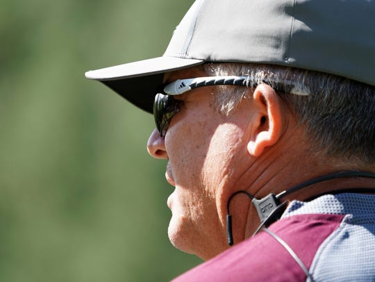 Todd Graham at Camp Tontozona on Aug. 2.