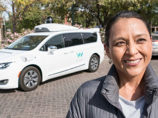 Dezbah Hatathli is a driver for Waymo's self-driving car program in Chandler.