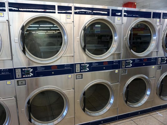 row of dryers