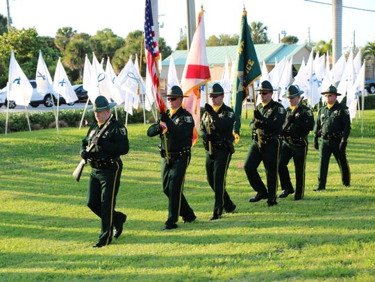 The Martin County Sheriff's Office Honor Guard presented