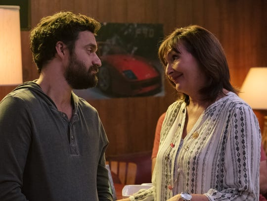 "Jake Johnson and Nora Dunn star in ""Tag."""