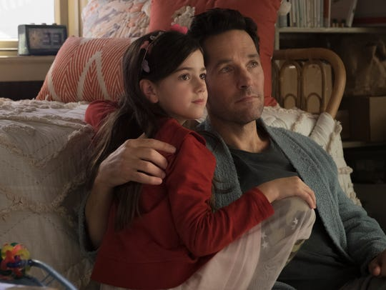 Abby Ryber Fortson as Cassie Lang and Paul Rudd as