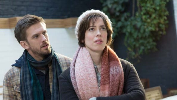 "Dan Stevens as Will and Rebecca Hall as Anna in ""Permission."""